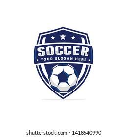 Soccer football logo template vector illustration