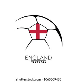 Soccer football minimal design with England flag