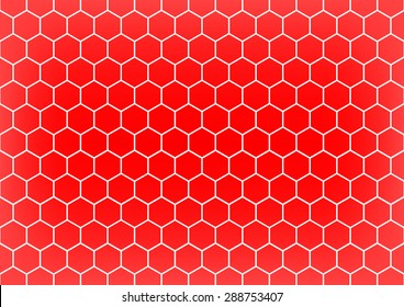 Soccer or Football net in red background, Vector illustration