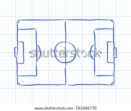 soccer football pitch diagram on 450w 582686770 soccer football pitch diagram on graph stock vector (royalty free