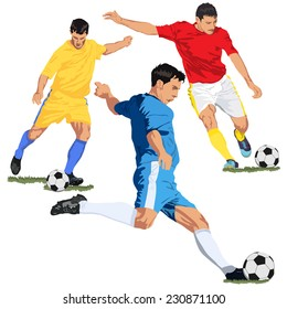 Soccer football players