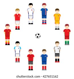 Soccer / Football players.Vector illustration.