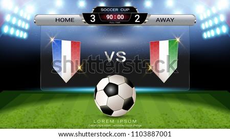 Soccer football scoreboard Sport