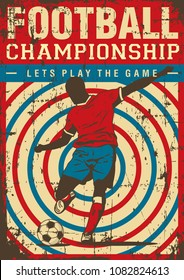 Soccer Football Sport Retro Pop Art Poster Signage