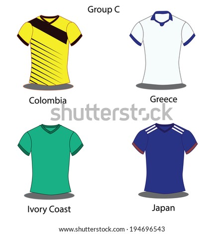 Soccer Football Team Players Group C Stock Vector (Royalty Free ... 9910ea296