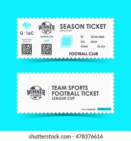 Soccer, Football Ticket Design. Vector illustration