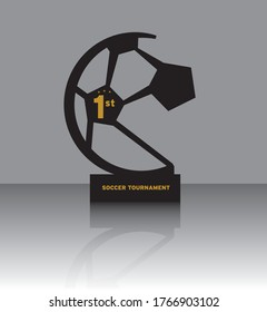 Soccer and football trophy, easy to convert it as a die cut file