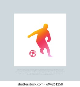 Soccer or Football. Vector favicon clip-art. Compatible with PNG, JPG, AI, CDR, SVG, EPS, PDF, ICO.