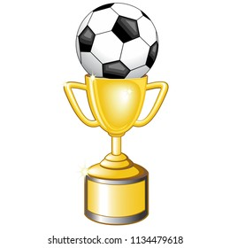Soccer Football Winners Golden Cup