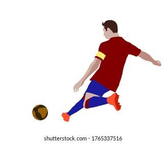 Soccer futsal Football Striker attacking player doing corner, penalty kick, free kick training exhibition match cup block human wall captain