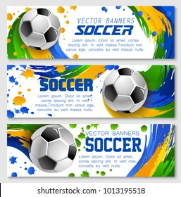 soccer tournament modern sport banner template stock vector royalty