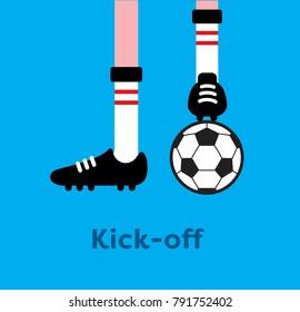 Soccer game kick-off