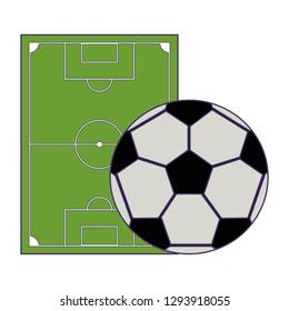 Soccer game sport blue lines