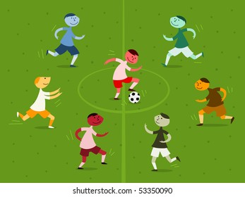 Soccer game - vector
