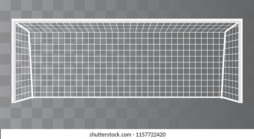 Soccer Goal, Football goalpost with net on a transparent background. Vector