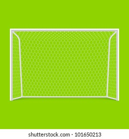 Soccer goal front view. Vector.