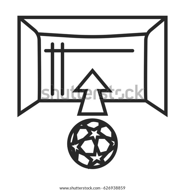 Soccer goal vector icon in simple outline style. This icon are perfect for your websites and applications.