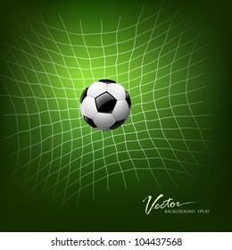 Soccer Goal, vector illustration