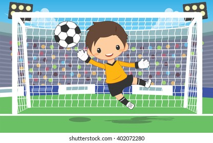 soccer goalkeeper catching ball