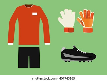 soccer goalkeeper kit vector