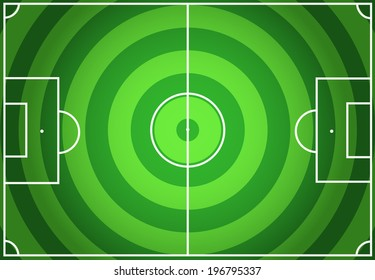 Soccer green field with circles striped background