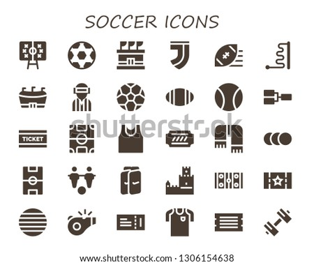 soccer icon set 30