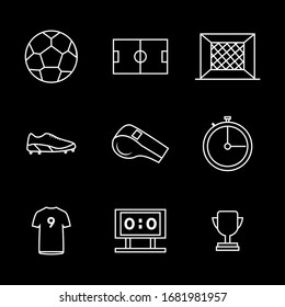 Soccer icon set Vector Outline style design for you design