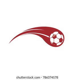 Soccer Icon with swoosh vector. Championship logo template