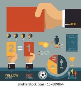 Soccer infographic, Eps 10 vector design