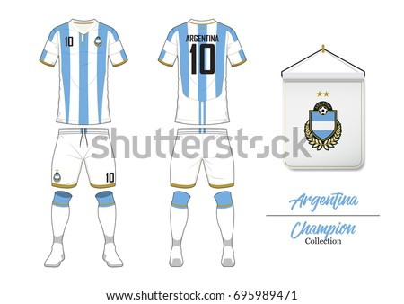 47411b6238d Soccer jersey or football kit collection in World Cup Championship Concept.  Argentina football national team
