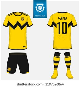 e8d396c39c2 Soccer jersey or football kit, shorts, sock template design for sport club.  Football