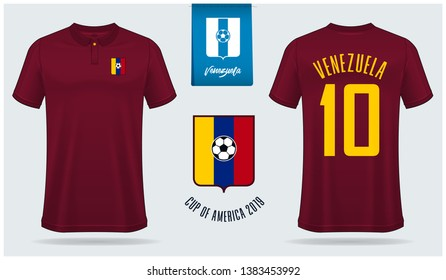 Soccer jersey or football kit  template design for sport club. Football t-shirt sport, shorts and socks  mock up. Front and back view soccer uniform. Flat football logo design. Vector Illustration.