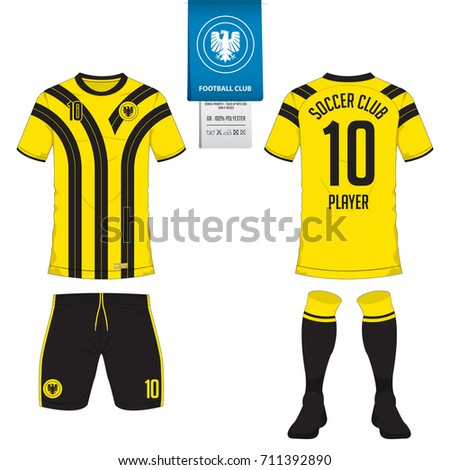 Soccer jersey or football kit template for football club. Football team t  shirt mock up 5c9d3da05