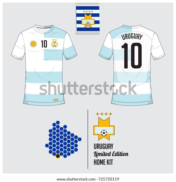 premium selection 5e171 2a283 Soccer Jersey Football Kit Template Uruguay Stock Vector ...