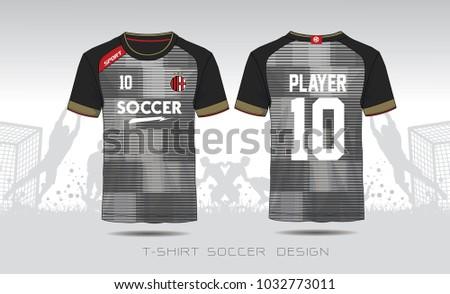 Soccer Jersey Template Mock Up Football Uniform For Club Team Apparel Gray