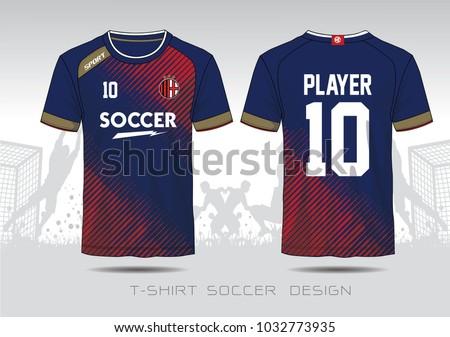 soccer jersey template mock football uniform のベクター画像素材