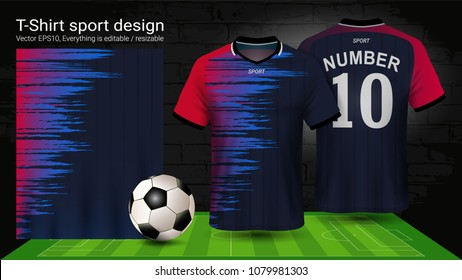 0e6809315a6 Soccer jersey and t-shirt sport mockup template