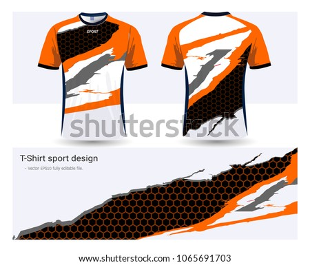 e2fd68009 Royalty-free stock vector images ID: 1065691703. Soccer jersey and t-shirt  sport mockup template, Graphic design for football club or activewear  uniforms, ...