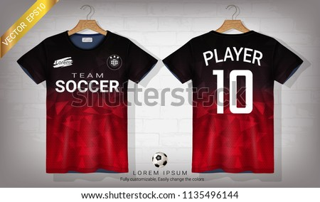 16273c2ad61 Soccer Jersey Tshirt Sport Mockup Template Stock Vector (Royalty ...