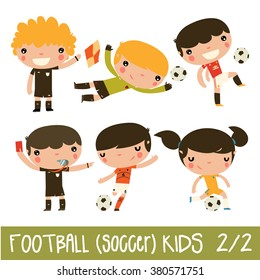 soccer kids set. cute football vector characters in real team kits. England, Holland, Ukraine.
