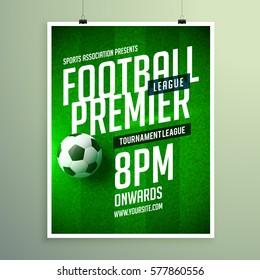 soccer league flyer design sports invitation template