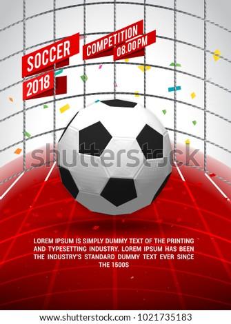 soccer league flyer design sports invitation stock vector royalty