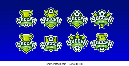 Soccer league sport logo vector illustration