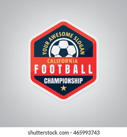 Soccer logo design,vector illustration