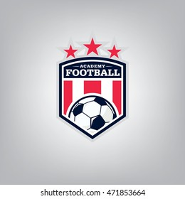 Soccer logo emblem design,vector illustration