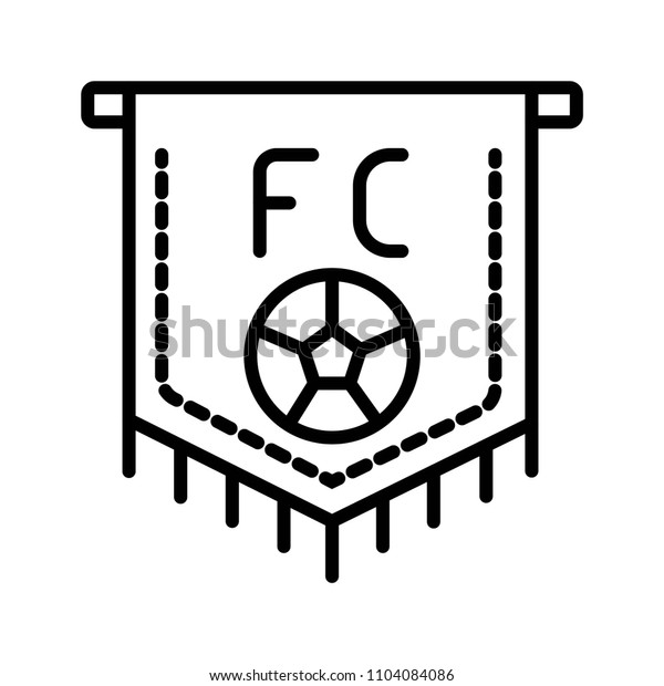 Soccer pennant icon