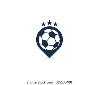Soccer Pin Logo Design Element