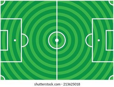 Soccer Pitch. Vector