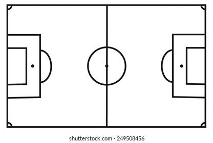 soccer plan field vector.