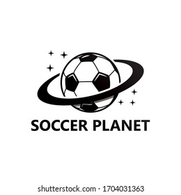 Soccer Planet Logo Template Design